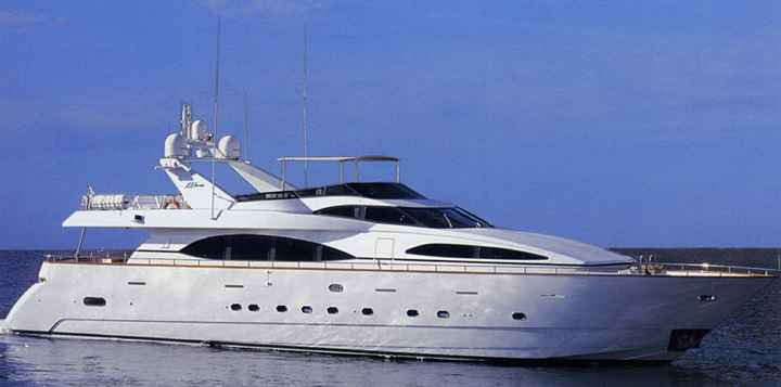 VIP- and Presentation Ship Models: Cruise Yacht of Azimut 100 class