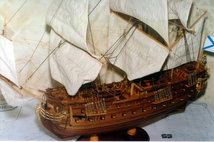 Модель парусного корабля: Линкор Москва.